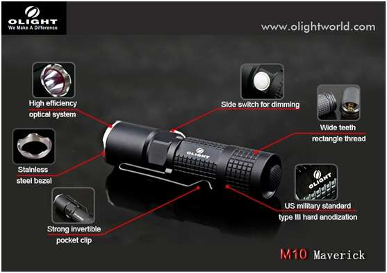 Olight Maverick M10 Flashlight