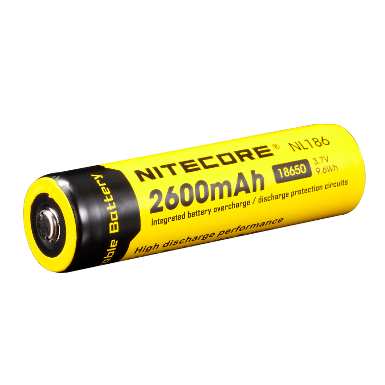 Nitecore NL186 18650 Li-Ion Battery (2600 mAh)
