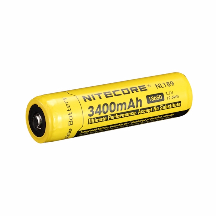 Nitecore NL189 18650 Li-Ion Battery (3400 mAh)