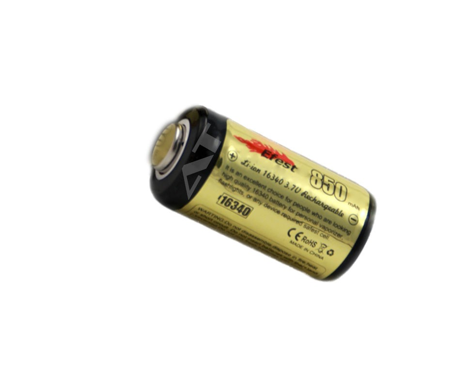 Efest Li-Ion 16340 Battery (850mAh)