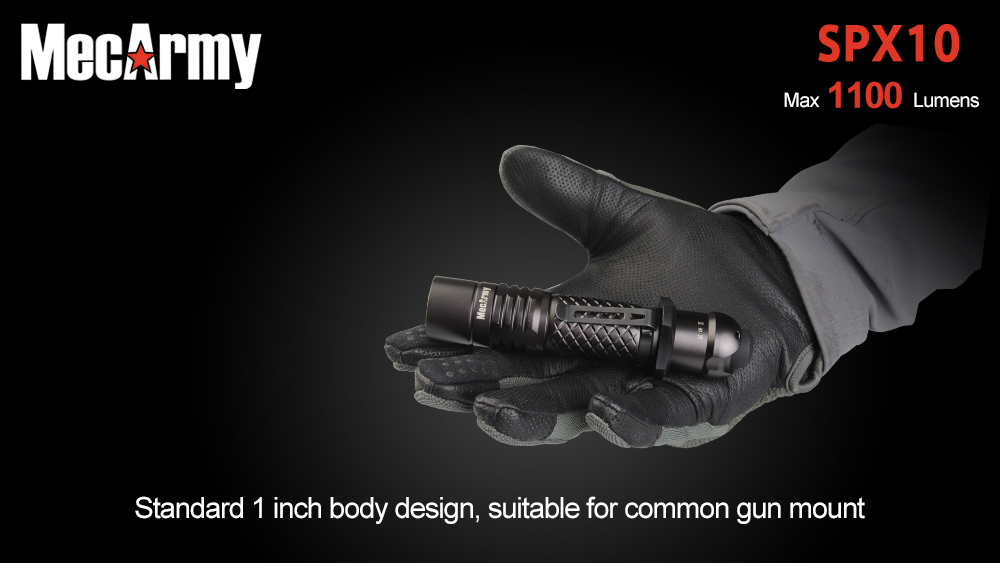 tactical flashlight mecarmy spx10