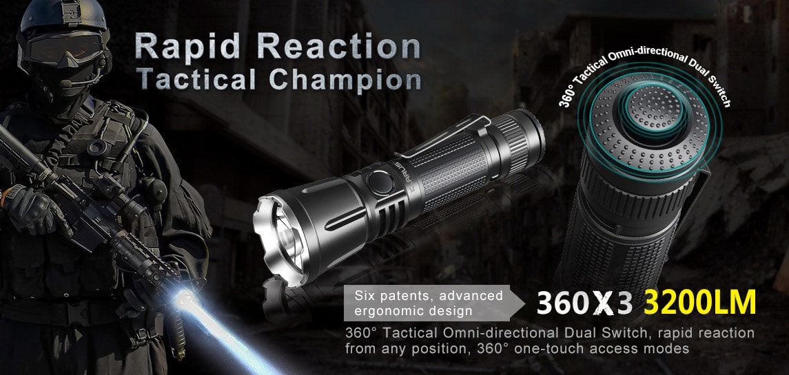 3200 Lumen Tactical Flashlight Klarus 360X3